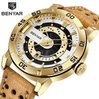 BENYAR Mens Watches Top Brand Luxury Waterproof Wrist Watch Ultra Thin Date Quartz Watch For Men Sports Clock Erkek Kol Saati