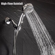 MOIIO High Pressure Shower Head ABS Bathroom Bath Water Saving Five Function Round Shape Hand Nozzle