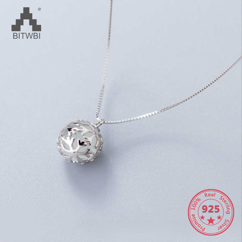 2018 Hot Sale S925 Steling Silver Classical Hollow Snowball Pendants Necklace Fashion Jewelry for Women