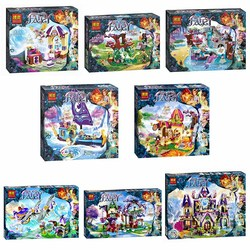 Girl Friends Building Blocks Elves Series Creative Workshop Crystal Hollow Spa Secret Epic Adventure Ship Magical Bakery Toys