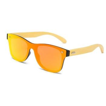 Creative bamboo wood frame goggles sunglasses