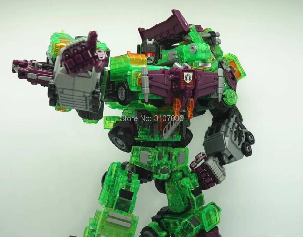 NBK Devastator 6IN1 Transparante Sets Bulldozer Scrapper Zwaartekracht Haak Transformatie Figuur Speelgoed-in Actie- & Speelgoedfiguren van Speelgoed & Hobbies op  Groep 3