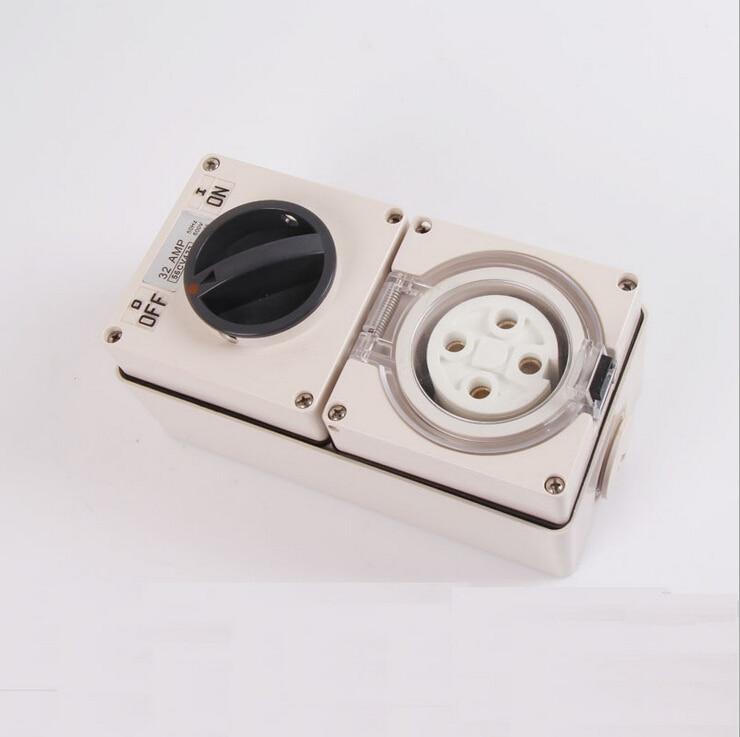 цена на 2015 New Arrival SP-56CV432 ip66 Industrial Plug Switch Socket Australian Standard Socket 4P 32A