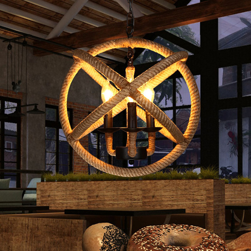 New American Vintage Rope Pendant Lights Loft Creative Industrial Lamp E27 Edison Bulb For Kitchen/Bar Home Decoration 110/220VNew American Vintage Rope Pendant Lights Loft Creative Industrial Lamp E27 Edison Bulb For Kitchen/Bar Home Decoration 110/220V
