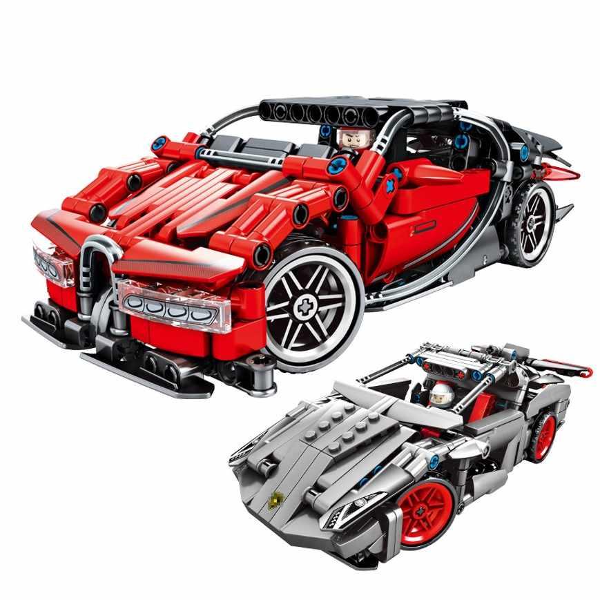 Tech montażu Bugatti Chiron wyścigi samochodowe zestawy modelu budynku bloki edukacyjne zabawki cegły