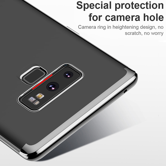 Baseus  Samsung Galaxy Note 9 Luxury Plating Soft TPU Transparent Clear Silicone Back Case Cover