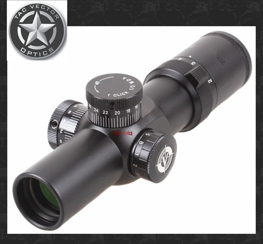 Vector Optics Apophis 1-6x28 First Focal Plane Compact 35mm Long Eye Relief Rifle Scope / Illuminated Dot Reticle marcool evv 6 24x50 sfirgl first focus plane tactical rifle scope