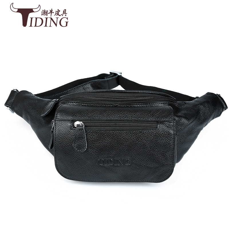 man cow leather waist packs 2017 new male fashion brand casual genuine leather waist bags black men travel crossbody bags азимов а академия и империя