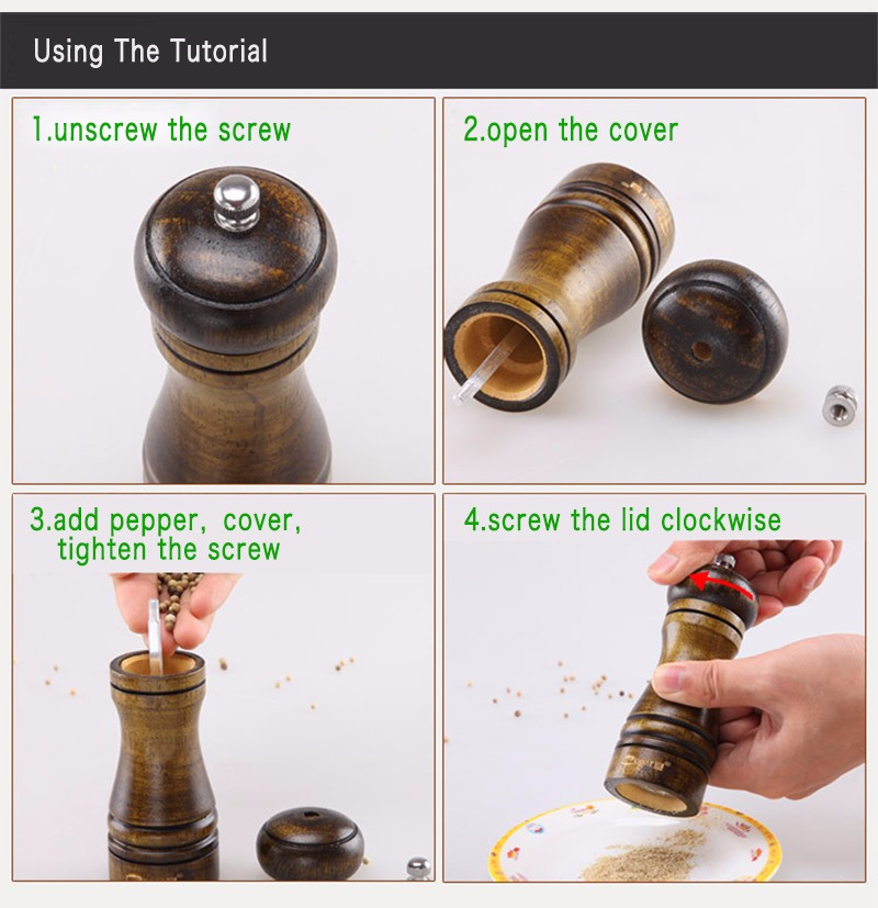 wood and metal spices grinder
