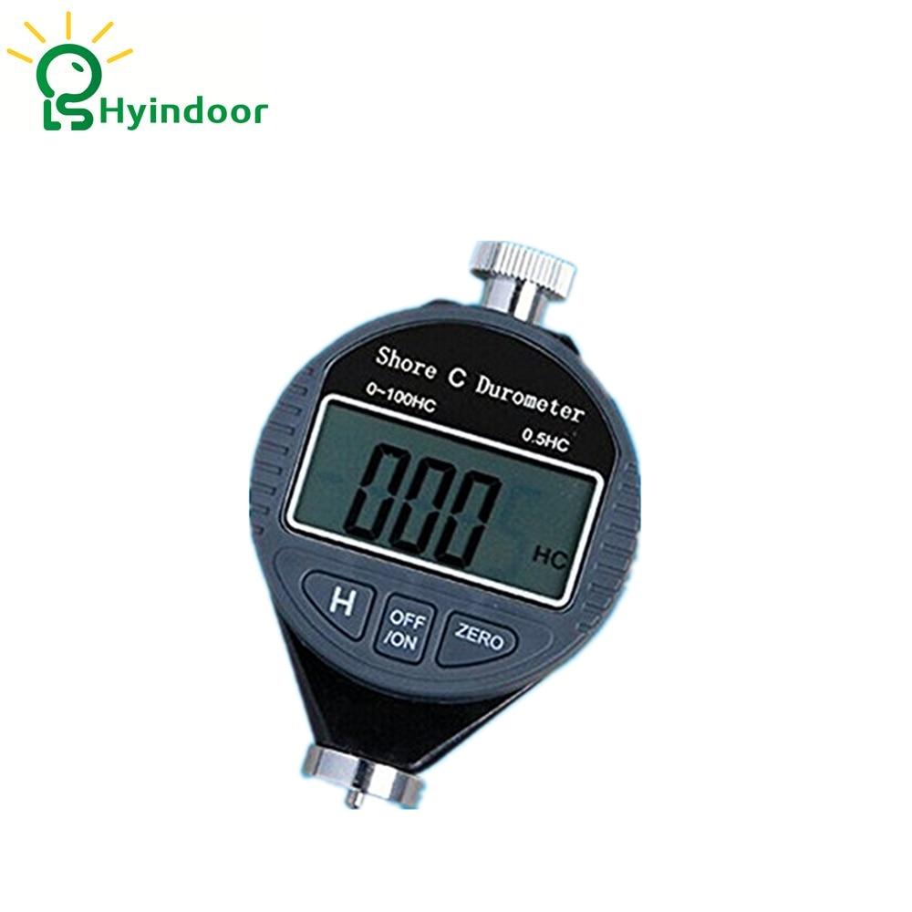 Digital Shore Tire Durometer C Rubber Plastic Hardness Tester Meter  0~100HC,Black  цены