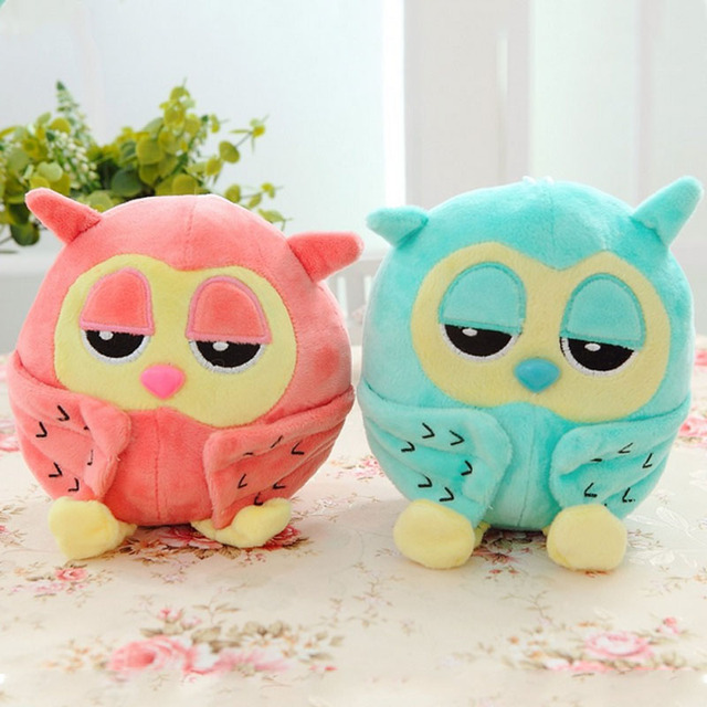 Night Owl Plush Toys Sleeping Eye Lovely Owl Toy Plush Soft For