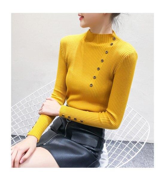 Women Sweater Turtleneck Sweaters Women Korean Fashion Woman Knitted Sweater Women Sweaters and Pullovers Winter Clothes Women 20
