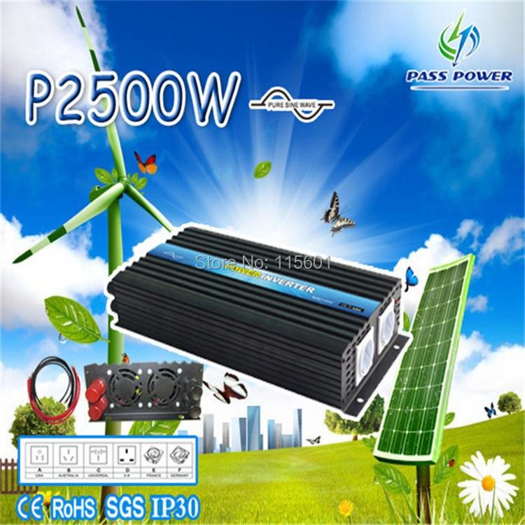 Power Inverter 2500W Pure Sine Wave Inverter Off Grid type, DC to AC 12v 220v/230v/240v,wireless remote ,converter