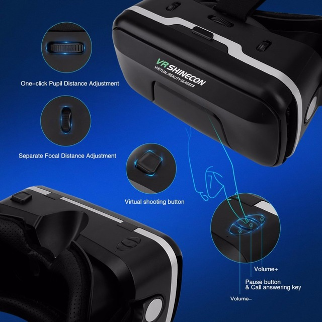 Black Virtual Reality Glasses