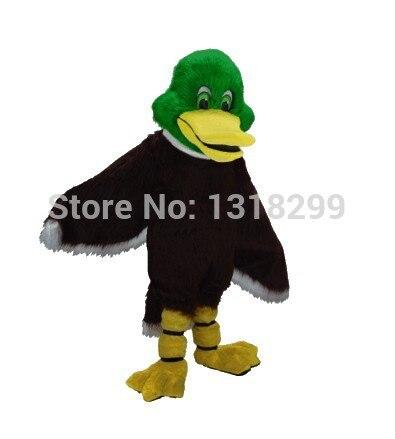 Mascotte tête verte canard colvert mascotte costume déguisement personnalisé fantaisie costume cosplay thème mascotte carnaval costume