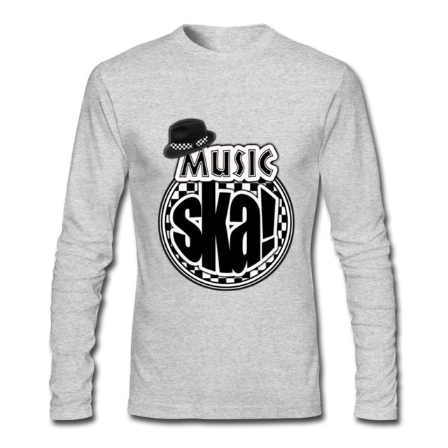 0a91abe3c09 New Style Men s tshirt Long Sleeve music ska design Elastic Unique Print  Tee shirts Cotton Male Clothing feyenoord popsocket 6xl