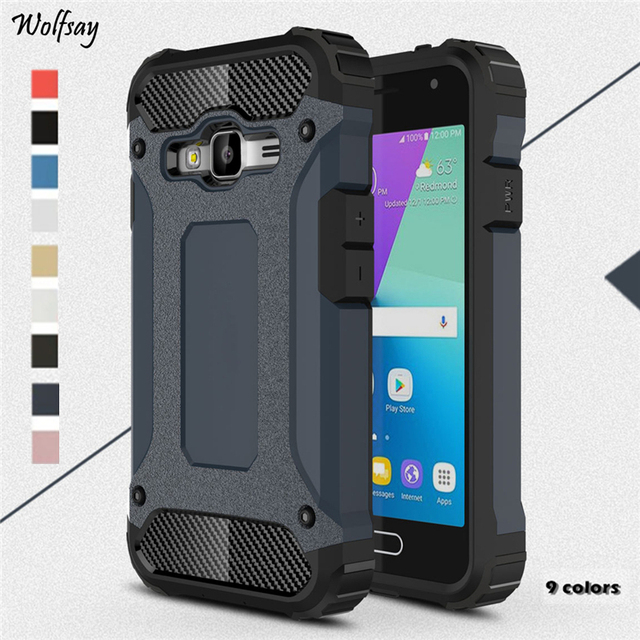low priced 1d49d 319d3 US $2.68 37% OFF|Wolfsay For Case Samsung Galaxy J1 Mini Prime Cover  Durable Armor TPU &PC Case For Samsung Galaxy J1 Mini Prime J106H Fundas-in  ...