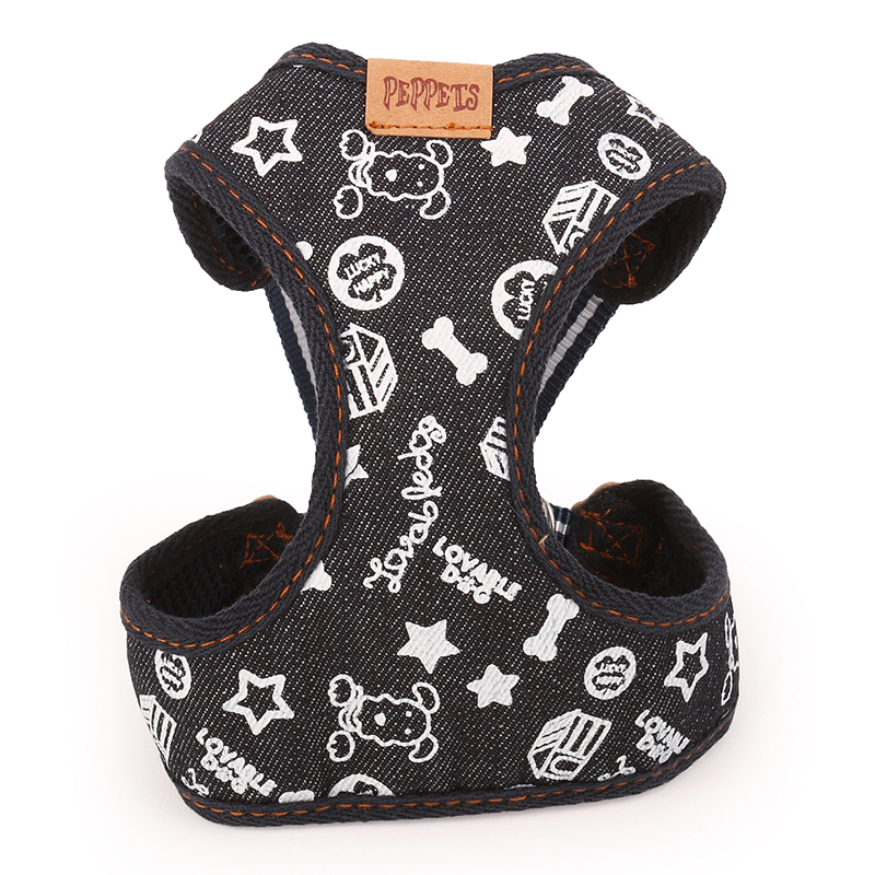 Brand High Quality Pet Dog Cat Adjustable Harness Leash For Dog Cat Puppy Jeans Pet Supplies Cachorro Mascotas 014008