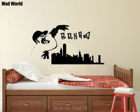 Mad World-Personalised Name Skyline Music Singer Wall Art Stickers Wall Decal Home DIY Decoration Removable Decor Wall Stickers