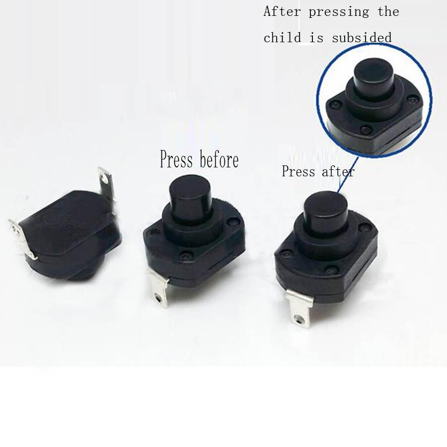 10pcs UPS switch flashlight switch self locking switch push button swicth micro power switch 3A/6A/10A