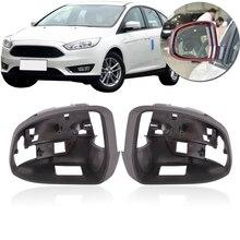Крышка QX с отверстием для камеры или нет для Ford Focus MK3 2012- зеркало заднего вида рамка Крышка объектива зеркало ограждение оболочка обратная крышка