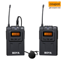BOYA BY-WM6 UHF Professional Wireless Lavalier Microphone System for DSLR Camera Smartphone Video Recording Interview ENG EFP DV boya by wxlr8 plug on xlr audio transmitter with lcd display uhf wireless for by wm8 by wm6 wireless lavalier microphone system