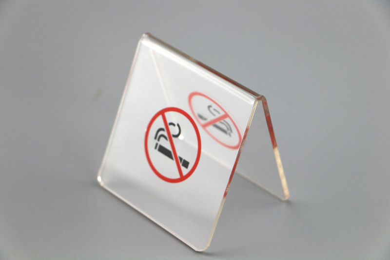 50 pcs Acrylic no smoking warn table tablet stands No smoking warning sign desktop stands sign plate stand signage v stand rack-in Plaques & Signs from Home & Garden    1