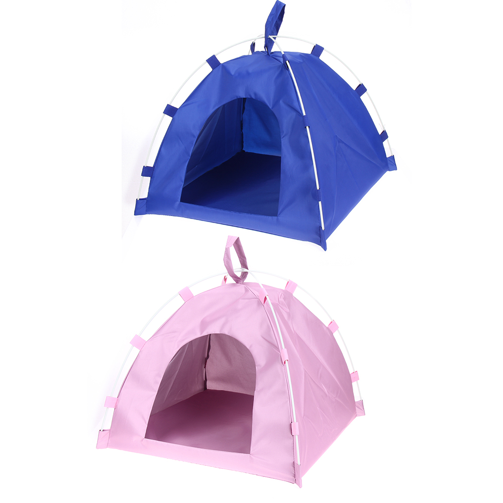 Waterproof Oxford Pet Tent House Dog Cat Playing Bed Mat Portable Folding Kennel Bed for Small Medium Dogs Outdoor Supplies