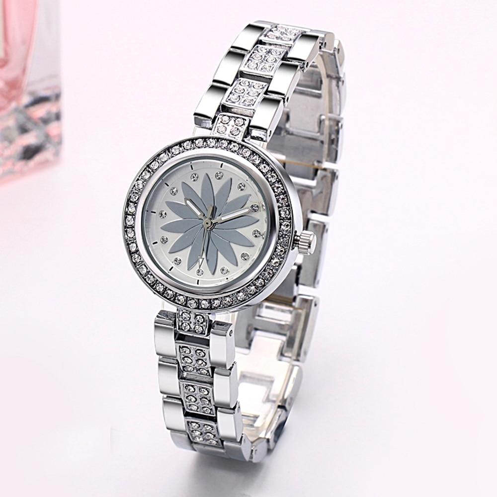 New arrival Elegant Wrist Watches for Women Luxury Quartz Crystal Dial Alloy Bracelet Wholesale price free drop shipping 4