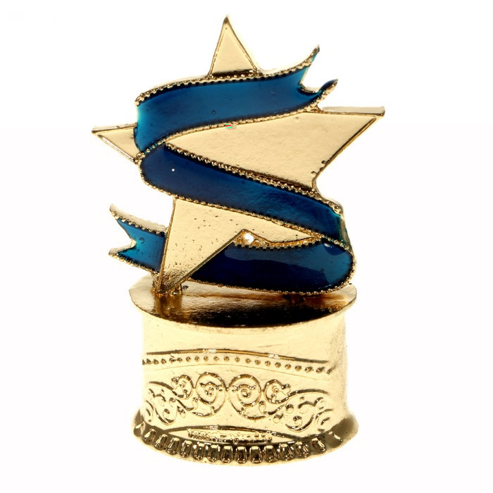New Arrival 100 Exclusive Design Gold Star Trophy Presented To The