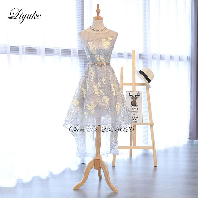 Aliexpress Buy Liyuke Cap Sleeve Prom Dress Beautiful Lace