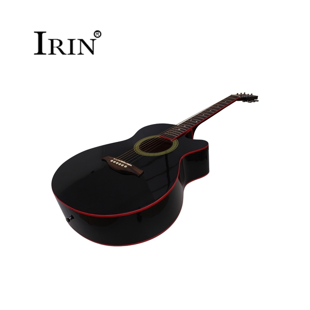 Acoustic Guitar 40 Inches 6 Strings Folk Guitar Missing Angle Black Rosewood Fingerboard  Musical Instruments Professional Cheap