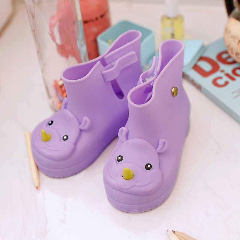 Дети дождь Обувь модные Сапоги и ботинки для девочек Малыш дождь Сапоги и ботинки для девочек Enfants Bottes Filles детские дети высокого Сапоги и бот...