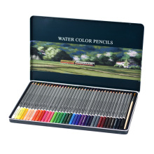 KNOW 36 48 72 watercolor color pencil set tin water soluble color pencil gift writing painting school student art supplies deli 24 36 48 72 colors pencil water color pencils painting pencil colorful pencil watercolor pen student supplies paint pencil