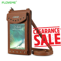 FLOVEME Wallet Leather Case For IPhone7 7Plus 6S 6Plus 5S SE Zipper Purse Pouch Phone Cases