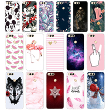 D Soft TPU Honor 7X Case Cover Drawing Painted 5.93