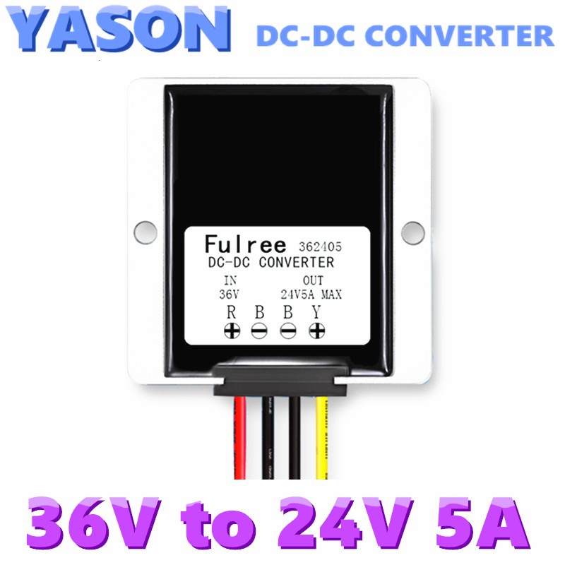 Waterproof foot switch 24V5A power 36V Car Power DC-DC buck power converter DC Power Supply on the open shanghai wing star ship switch kcd6 21n f ip65 waterproof switch 6a 4 foot red 220v