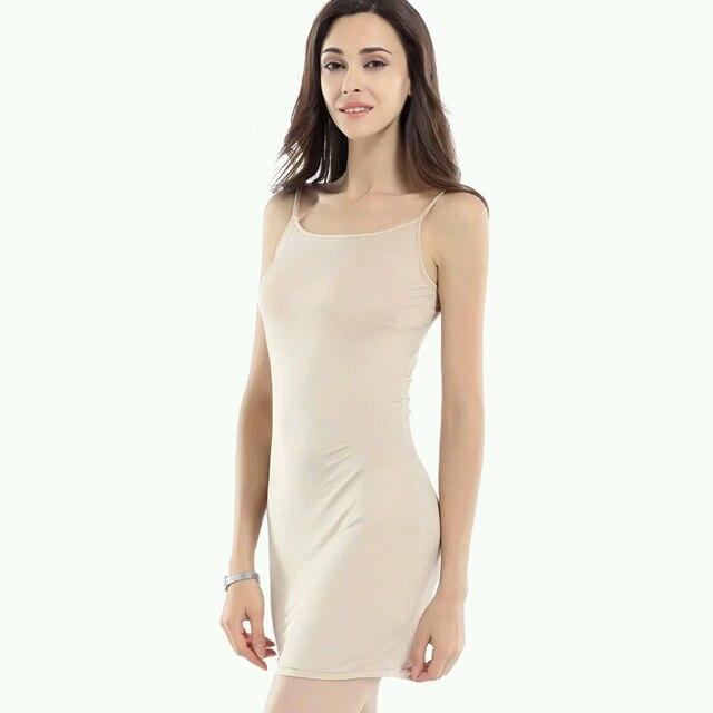 Women Slips 100%REAL SILK Full slips Healthy Under dress Anti emptied Intimates Everyday slip dress Nude Black White New 1