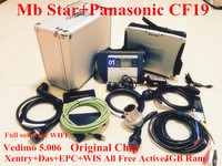 NEW MB Star C4 multiplexer with WIFI mb star diagnosis tool with Panasonic CF19 Military Notbook MB SD connect C4 DHL Free