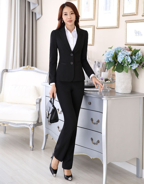 2016 formal ladies office bow skirt suit office uniform for Office uniform design 2016
