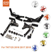 For Benelli TNT125 2016 2017 2018 Motorcycle Rear Set Accessories CNC Adjustable Rearset Foot Pegs TNT 125 2018 Foot Rests