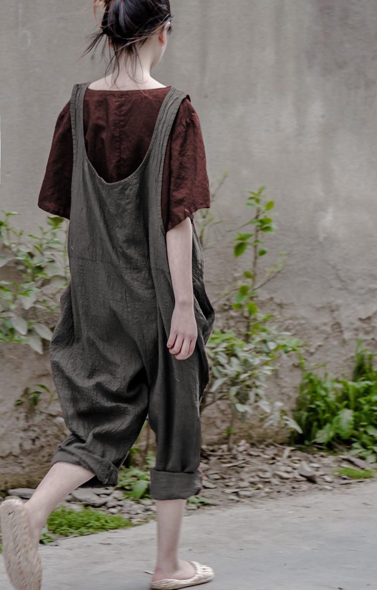 4a561c178288 Bohemian Hippie Boho Loose Vintage Cotton Linen Overalls Vrouwen Palazzo  Haren Baggy Pants Women Capri Trousers Novelty Clothing
