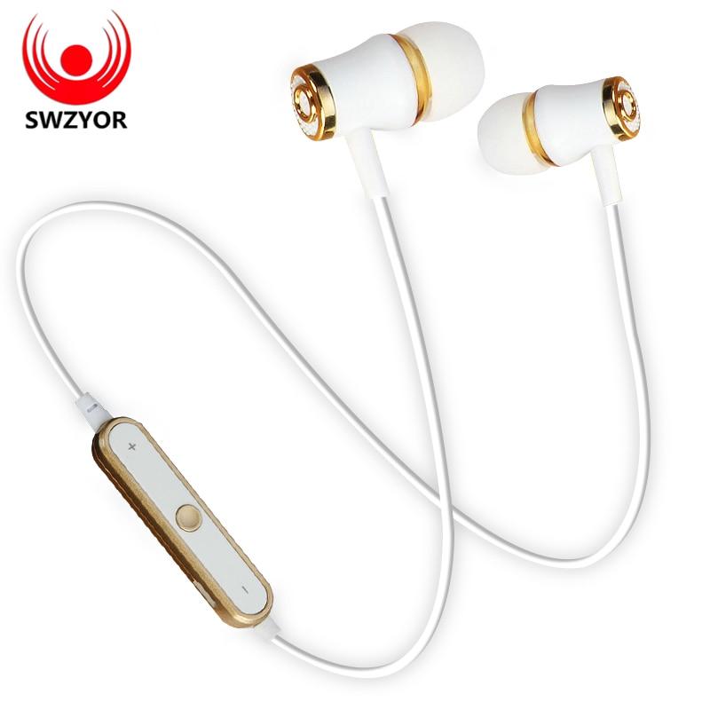 SWZYOR S6 deportes inalámbrica Bluetooth para auriculares estéreo corriendo en la oreja los Sweatproof auriculares con micrófono auricular