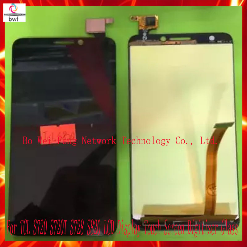 50Pcs/lot DHL EMS  High Quality For TCL S720 S720T S728 S820 LCD Display Touch Screen Digitizer Glass Assembly  Free Shipping 50pcs lot ems dhl high quality lcd for