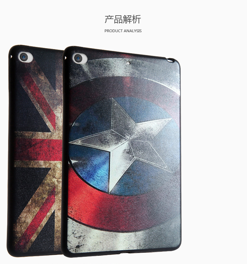 Fashion TPU soft case For Apple iPad Mini 4 Case Tablet Cover Cartoon Pictures 7.9 inch Back Case+Screen Protector Film+Pen+OTG