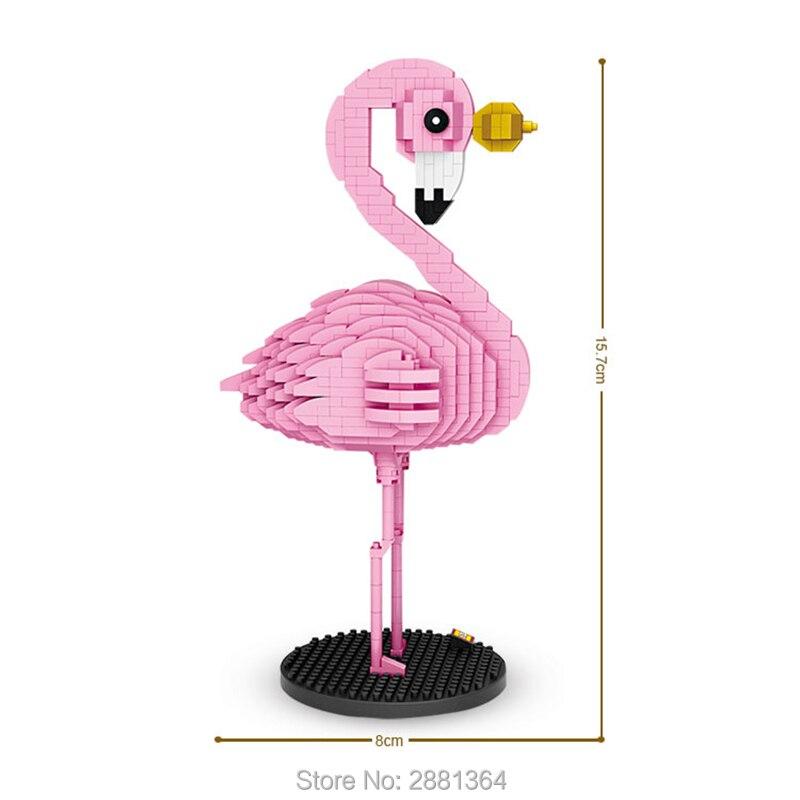 Loz 9205 Blocs De Diamant Flamant Rose Jouet Figurine