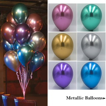 15PCS Metallic Latex Balloons Lot 12inch Silver Wedding Party Decoration Shimmer and Shine Metal Gold birthday balloon