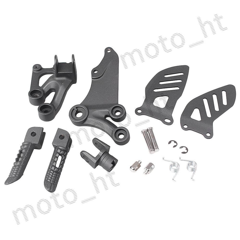 Aluminum Alloy Rider's Front Foot Pegs Footrest Brackets For Suzuki GSXR 600 750 2006 2007 2008 2009 2010 K6 K8 Black