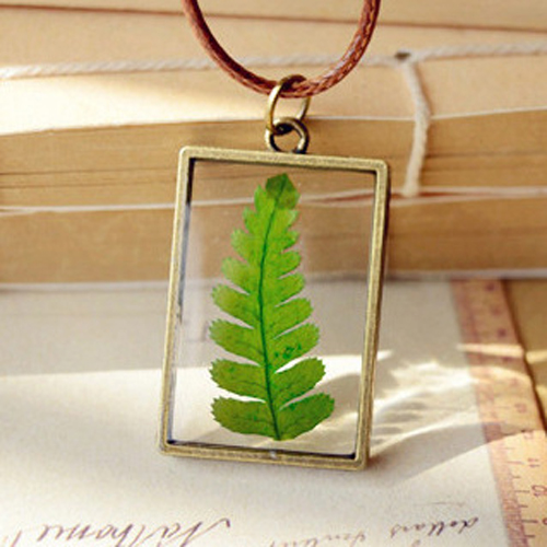 2018 Real Dry Dried Tree Leaf Glass Pendant Necklace Leather Chain natural plant leaf Charm Fashion Jewelry For women men gifts