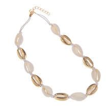 Natural Shell Alloy Necklace Bracelet Footchain Summer Beach Accessories Ladies Gift